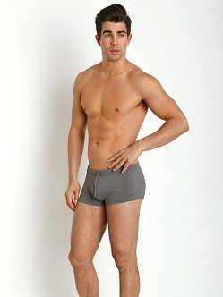 Emporio Armani Eagle Square Cut Swim Trunk Ash Grey