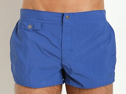 Emporio Armani Eagle Button Swim Shorts Royal Blue