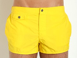 Emporio Armani Eagle Button Swim Shorts Yellow