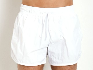 Emporio Armani Eagle Swim Shorts White
