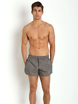 Emporio Armani Eagle Swim Shorts Ash Grey