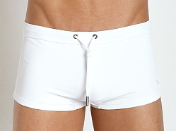 Emporio Armani Pique Swim Trunk White
