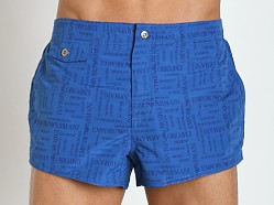 Emporio Armani Logo Swim Shorts China Blue