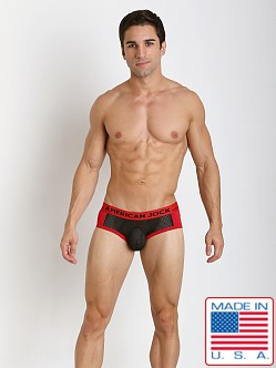 American Jock Active Mesh Sport Brief Black/Red