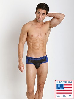 American Jock Active Mesh Sport Brief Black/Royal