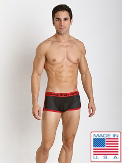 American Jock Active Black Mesh Trunk Black/Red