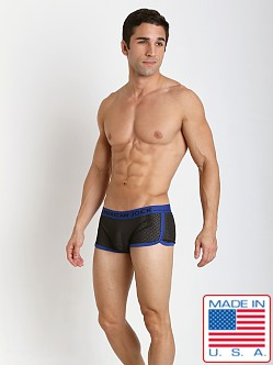 American Jock Active Black Mesh Trunk Black/Royal