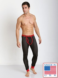 American Jock Active Mesh Long John Black/Red