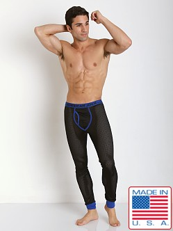 American Jock Active Mesh Long John Black/Royal