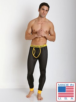 American Jock Active Mesh Long John Black/Yellow
