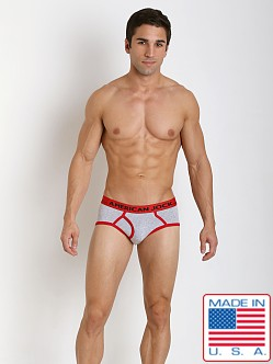 American Jock Varsity Brief Heather/Red