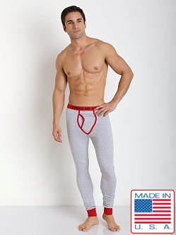 American Jock Varsity Long John Heather/Red