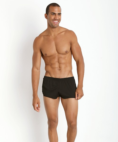 American Jock Ultra Sheer Running Short Black