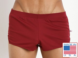 American Jock Ultra Running Short Burgundy