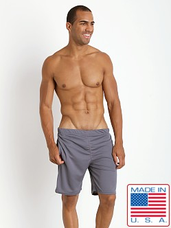American Jock Workout Short with Built-In Jock Grey