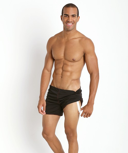 American Jock Shorts with Built-in Jock Black