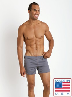 American Jock Shorts with Built-in Jock Grey