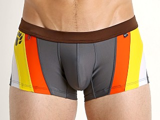 Tulio Bear Pride Swim Trunk Grey/Orange/Yellow