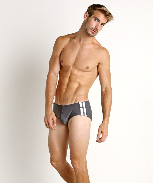 Tulio Classic Stripes Swim Brief Grey