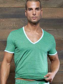 C-IN2 Hand Me Down Ringer Vee Neck Shirt Green