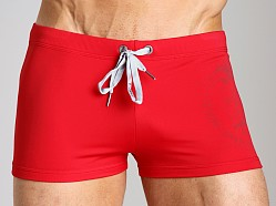 Diesel Aloha Mohawk Swim Trunk Red