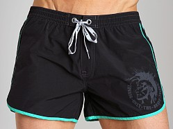Diesel Reef Double Stripe Swim Shorts Black