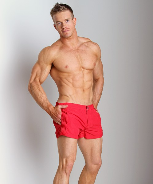 Diesel Coralrif Nylon Swim Shorts Red