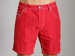 Diesel Kroobeach Nylon Board Shorts Red