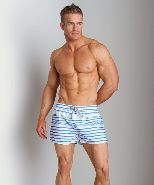Diesel Coralrif Striped Swim Shorts Blue