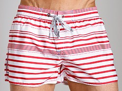 Diesel Coralrif Striped Swim Shorts Red