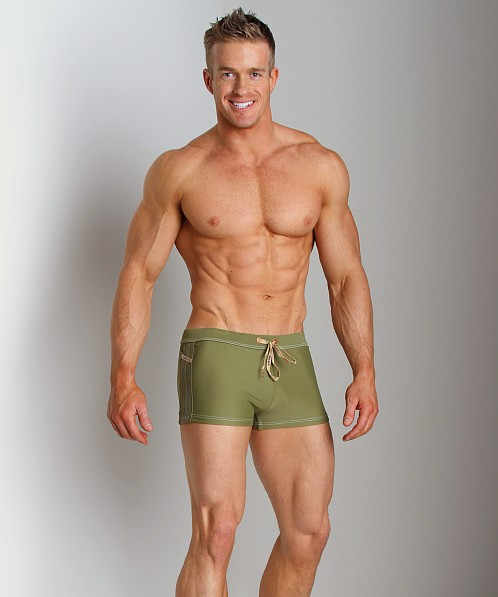 Diesel Aloha Solid Swim Trunk Hunter Green