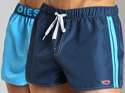 Diesel Coralrif Fresh & Bright Reversible Swim Shorts Navy