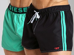 Diesel Coralrif Fresh & Bright Reversible Swim Shorts Black