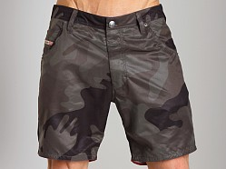 Diesel Kroobeach Camo Board Shorts Dark Camo