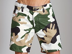 Diesel Kroobeach Camo Board Shorts Light Camo