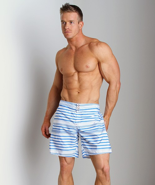 Diesel Blans Striped Swim Boxer Blue