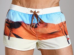 Diesel Reef Printed Swim Shorts Desert