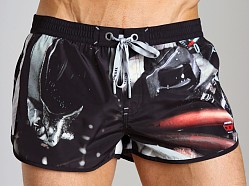 Diesel Reef Printed Swim Shorts Black