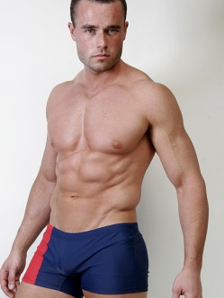 Go Softwear C-Ring Swim Trunks Navy/Red