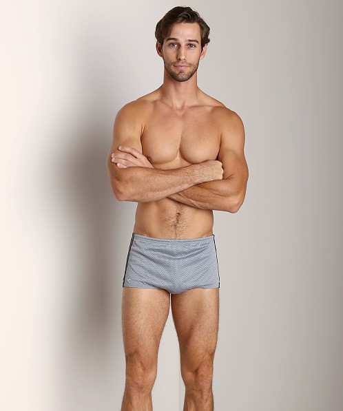 Speedo Poly Mesh Square Leg Charcoal/Black