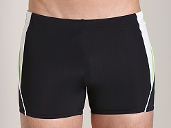 Speedo Fitness Splice Square Leg Swim Trunk Black