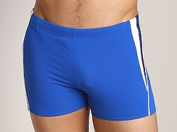 Speedo Fitness Splice Square Leg Swim Trunk Olympian Blue