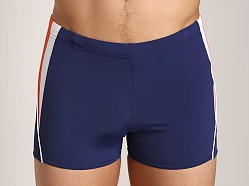 Speedo Fitness Splice Square Leg Swim Trunk Nautical Navy