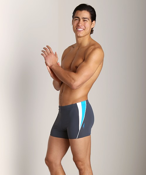 Speedo Fitness Splice Square Leg Swim Trunk Lava Grey