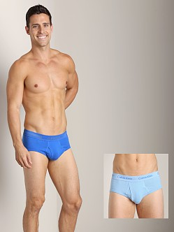 Calvin Klein Cotton Stretch 2 Pack Hip Brief Kinetic Blue & Ceru