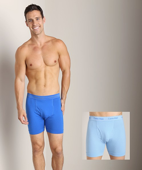 Calvin Klein Cotton Stretch 2 Pack Boxer Brief Kinetic Blue & Ce