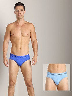 Calvin Klein Microfiber Stretch 2 Pack Hip Brief Kinetic Blue &
