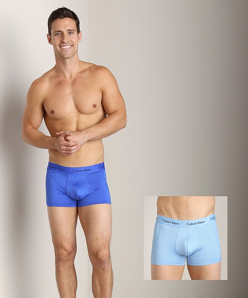 Calvin Klein Microfiber Stretch 2 Pack Trunk Kinetic Blue &