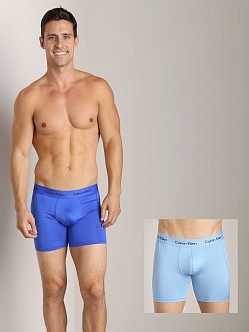 Calvin Klein Microfiber Stretch 2 Pack Boxer Brief Kinetic Blue