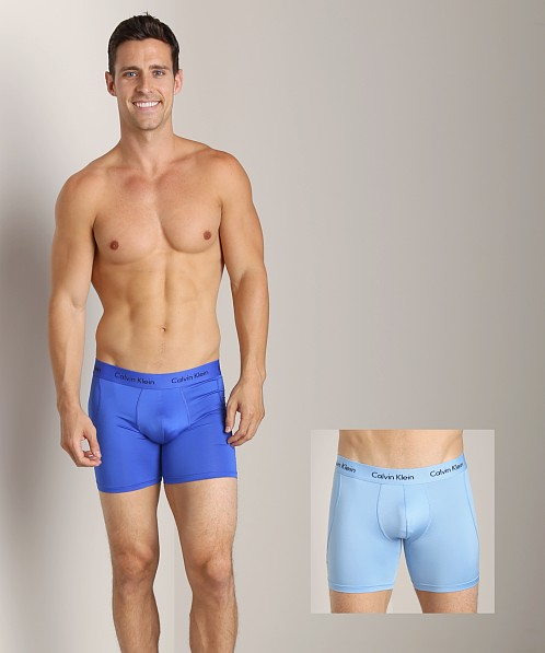 Calvin Klein Microfiber Stretch 2 Pack Boxer Brief Kinetic Blue U8722-KCW  at International Jock 3bc208714
